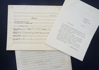 Autograph music and correspondence by the French composer, Jacques Ibert (includes EOLA MU058)