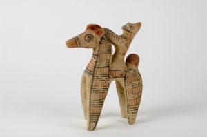 Figurine of horse and rider, 600–475 BCE