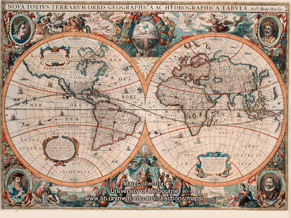 Historical map desktop wallpaper library double hemispherical map of the world 1630 gumiabroncs Choice Image