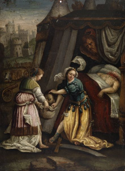 Judith With The Head Of Holofernes After Jan Saenredam
