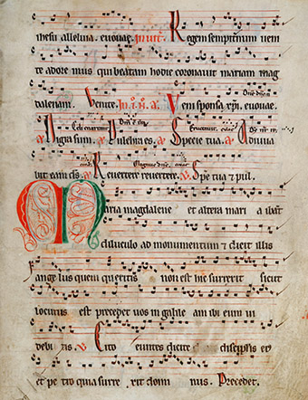 Fragment from a sanctorale MS ANON 3