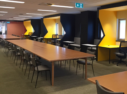 New study spaces on level 2 of the Baillieu Library