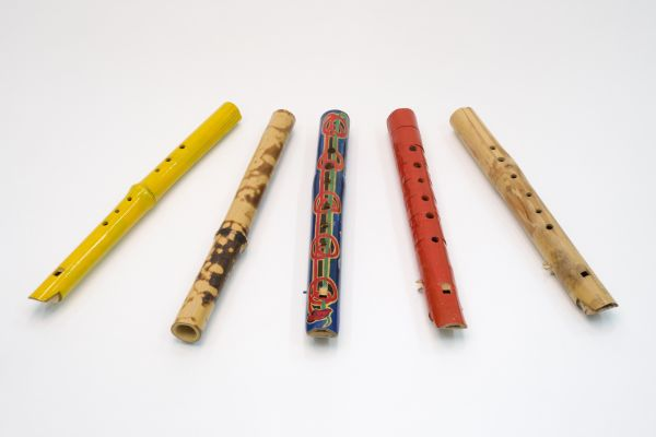 UniM Bail Music RB  PIPES <br> [unknown makers] ;  <br> Collection of bamboo pipes : handmade wind instruments.  <br> Melbourne , [between 1929 and 1950] <br> Realia
