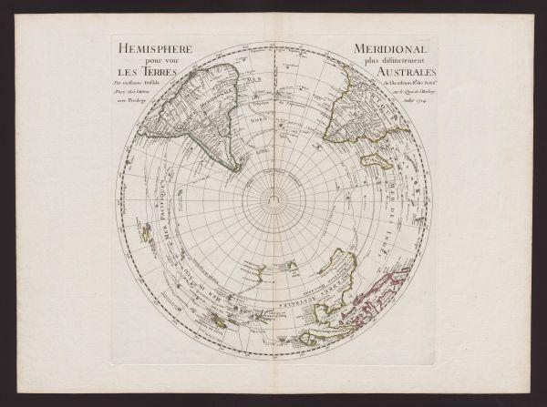 Hemisphere meridional pour voir plus distinctement les terres Australes