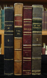 Books from the shelves of the English Room