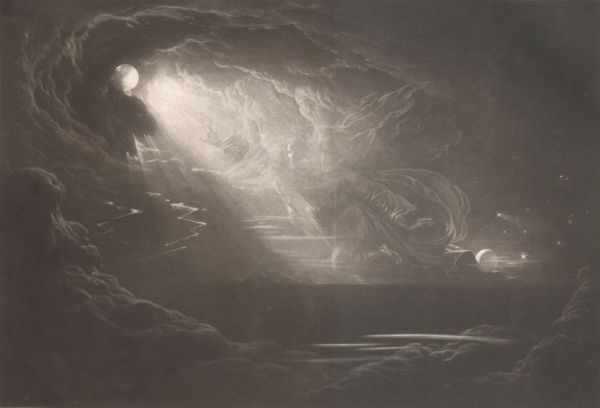 Creation of light from Paradise lost, 1825