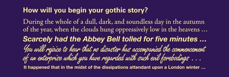Dark imaginings: gothic tales of wonder