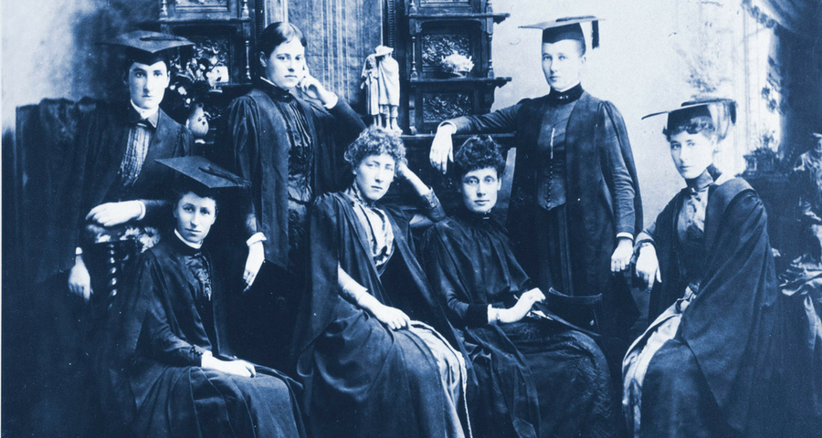 Women medical students, University of Melbourne, 1887. University of Melbourne Photographs, University of Melbourne Archives, BWP/7647