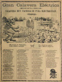 José Guadalupe Posada, Gran Calavera Electrica, c.1910, Baillieu Library Print Collection