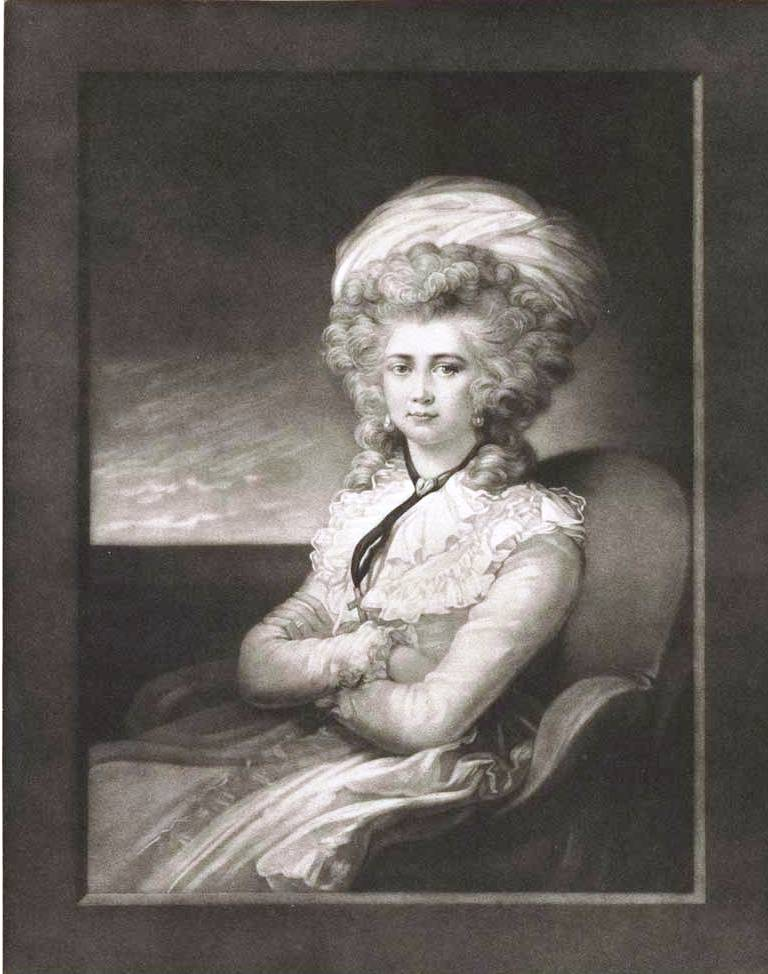 Green, Valentine (1739-1813) Cosway, Maria (Artist, 1759-1838) Mrs Cosway (1787) mezzotint, chine collé image 21.4cm (H) x 17.0cm (W) plate 25.0cm (H) x 19.5cm (W) sheet 38.2cm (H) x 28.2cm (W) sheet (adhered) 42.7cm (H) x 35.3cm (W) 1959.5577.000.000 Baillieu Library Print Collection, the University of Melbourne. Gift of Dr J. Orde Poynton 1959.