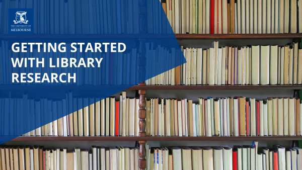 Image for Getting Started with Library Research (July)