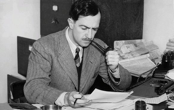 Clem Chritesen 1946 smoking a pipe